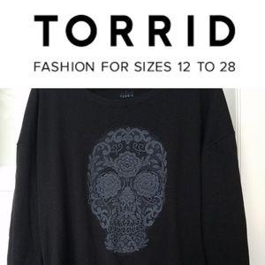 Torrid Skull Sweatshirt